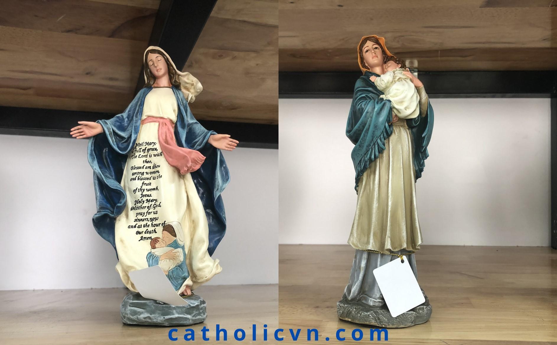 Tượng Đức Mẹ Maria: Ban Ơn, Bế Chúa, Fatima, Lộ Đức, Mân Côi…
