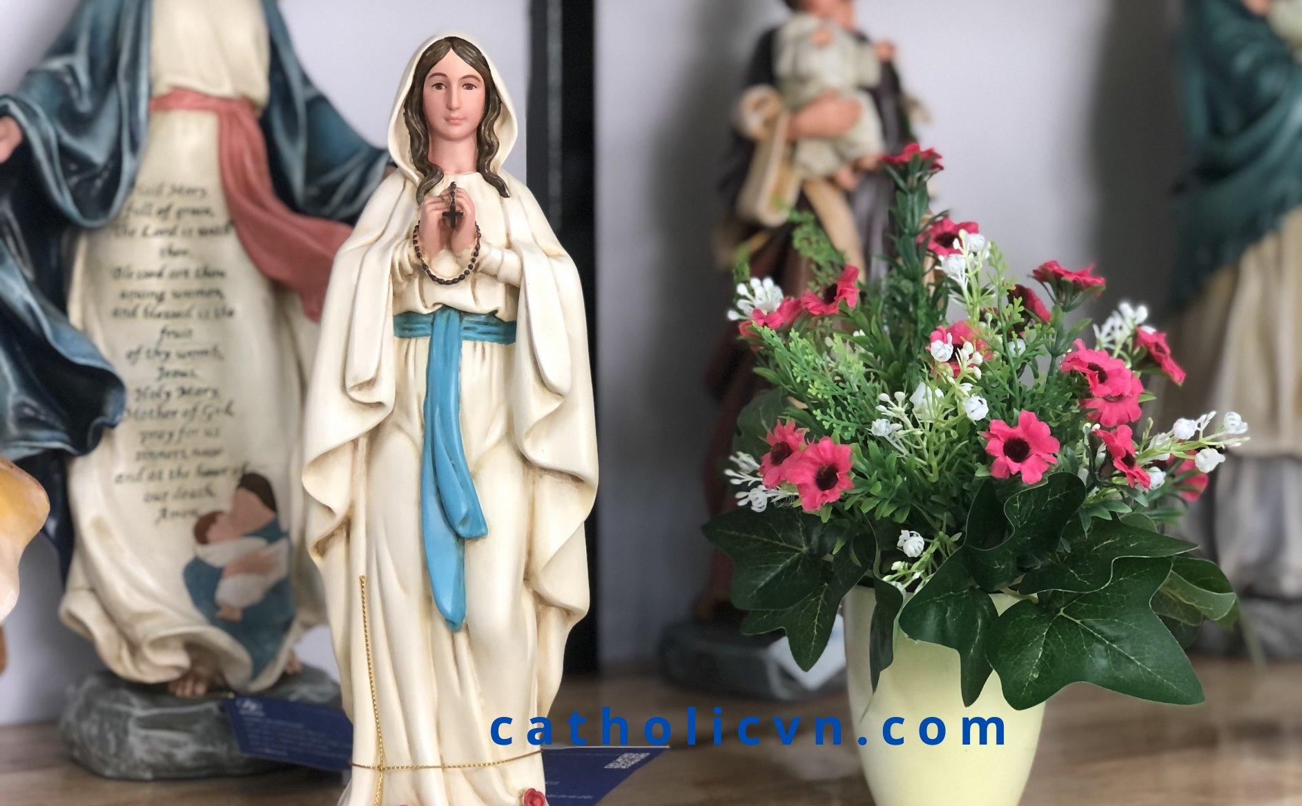 Hình ảnh Tượng Đức Mẹ Maria: Ban Ơn, Fatima, Lộ Đức, Mân Côi… mini, để ngoài trời