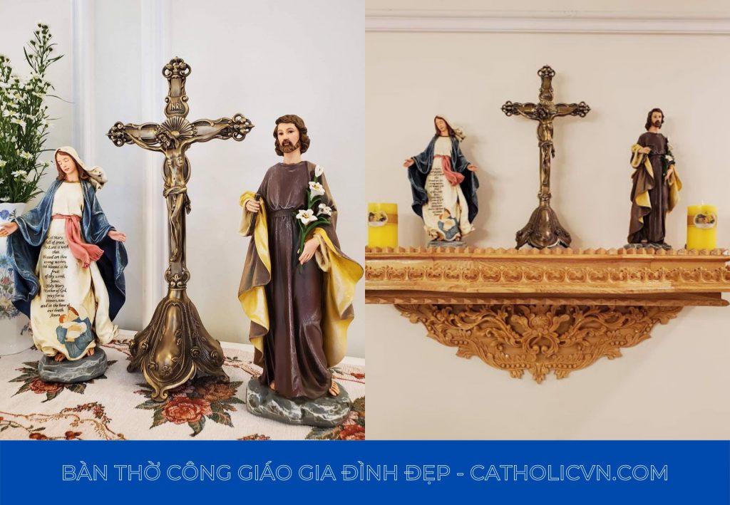 bàn thờ công giáo tại hà nội - bàn thờ công giáo nam định - hải phòng - hà nam - thái bình - ninh bình - hải hậu - bàn thờ công giá phòng khách, treo tường, mi ni, hiện đại
