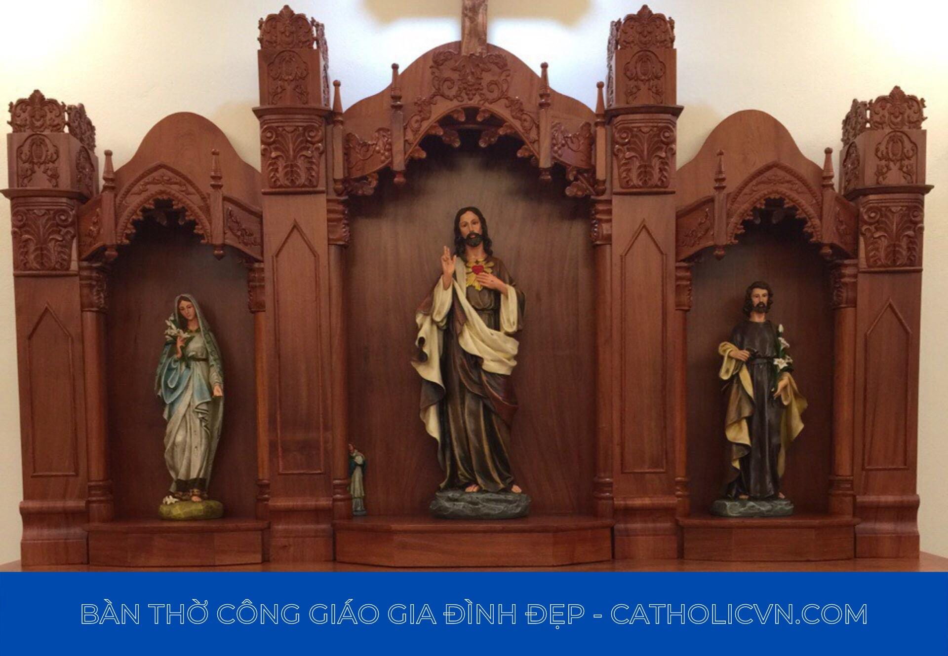 Mẫu Bàn Thờ Công Giáo bằng gỗ đẹp – giá rẻ