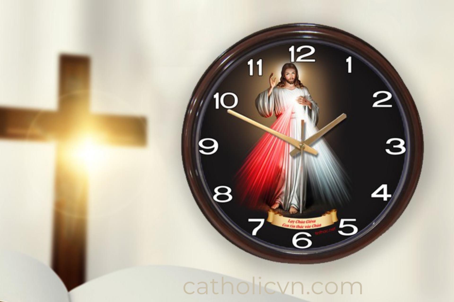Đồng Hồ Công Giáo: Treo tường in hình Chúa Giesu, Đức Mẹ…