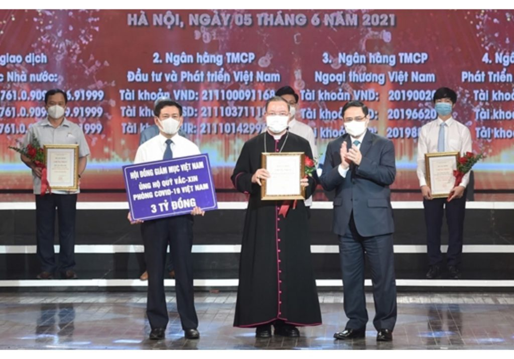 Hội đồng Giám mục Việt Nam ủng hộ 3 Tỷ đồng vào Quỹ vắc-xin phòng Covid-19