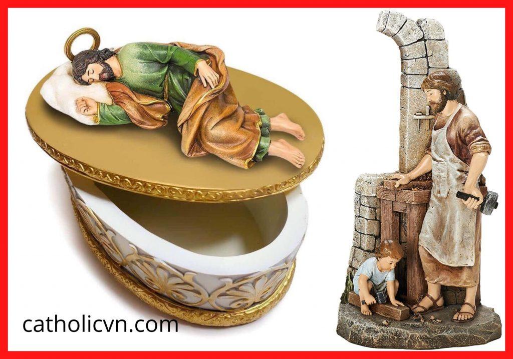 Tượng Thánh Giuse Ngủ - T Giuse Thợ - T Giuse Bế Chúa Giesu