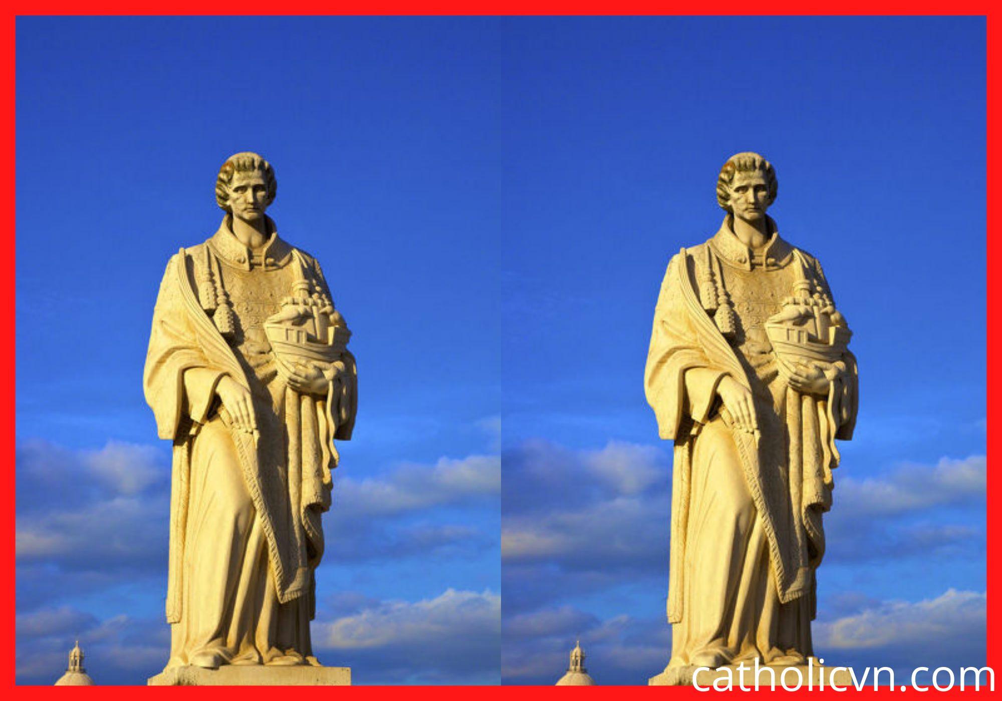 Tượng Thánh Vincent – Mẫu Châu Âu – Đẹp sắc sảo