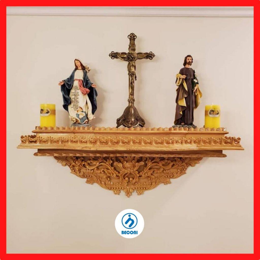 Bàn Thờ Công Giáo là một nét đẹp truyền thống, văn hóa của Người Công Giáo. Do một số lý do: diện tích nhà nhỏ, ở chung cư cao tầng, ở căn hộ diện tích nhỏ, phòng khách nhỏ ... nên một số Người Công Giáo phải chọn những Bộ Bàn Thờ Công Giáo Mini để trưng thờ trong gia đình. Chúng tôi rất cảm ơn bạn đã đọc bài viết này, chúng tôi chia sẻ nhiều mẫu Tượng Công Giáo và Bàn Thờ Công Giáo được sản xuất bởi Beconi VietNam.