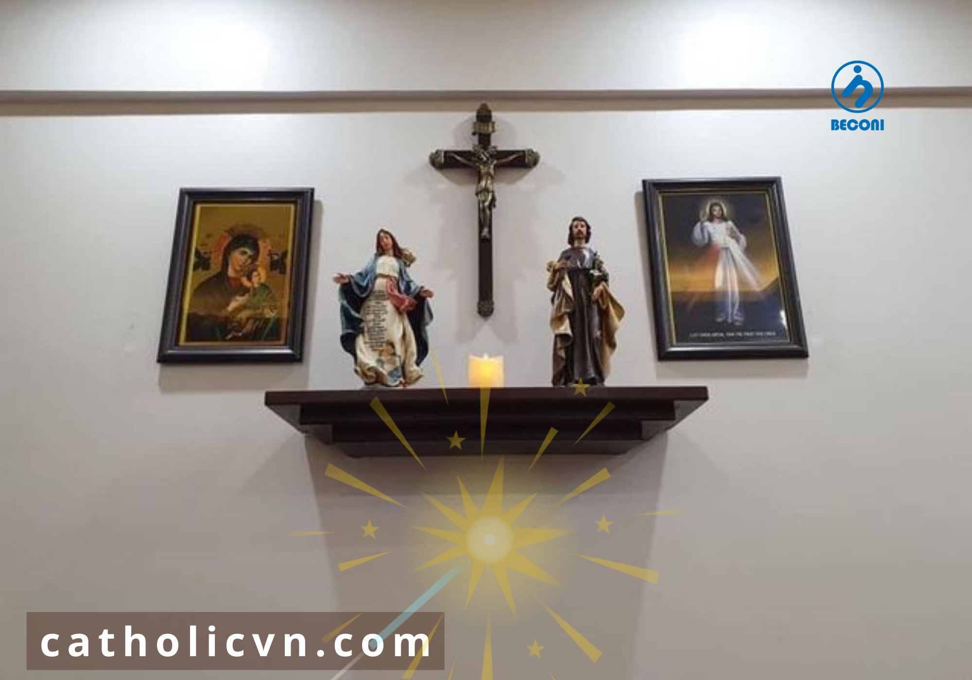 Bàn Thờ Chúa – Ảnh Tượng Công Giáo tại Thái Bình – Mẫu đẹp